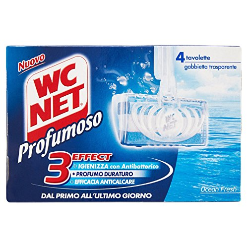 WC Net - 3Effect, Detergente per WC, Ocean Fresh - 136 g