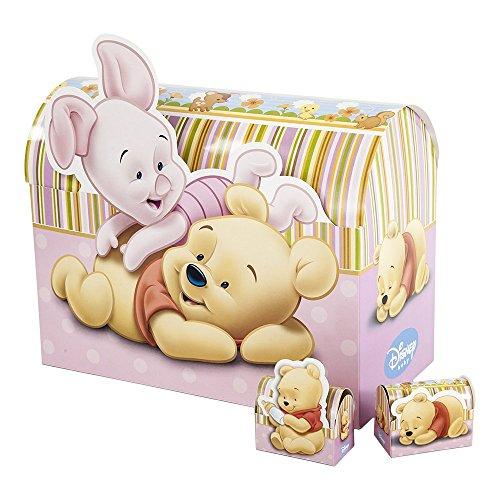 Bomboniere Disney astuccio scatoline portaconfetti Winnie the Pooh ROSA cm.7x8.5x3.5