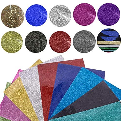 Plotterfolie Textil-Heizfolie, 20 x 25 cm Vinyl-Flexfolie Wärmeübertragungsfolie Transferpapier Heißpresse Haushalt Bügeln auf T-Shirts und Stoffen Fabric