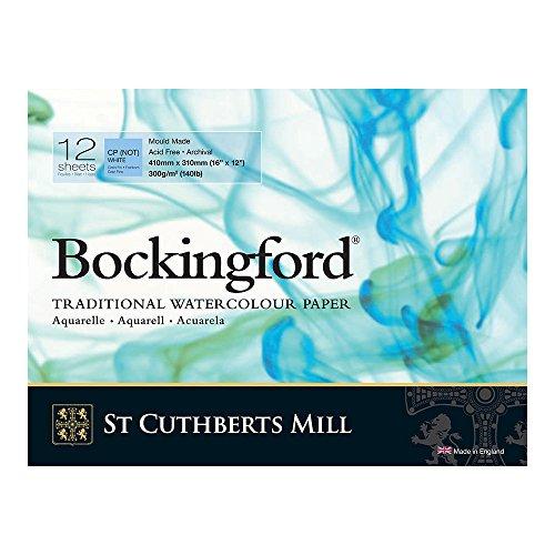 Bockingford Watercolor Pad 12 X 16 White 140 Pound