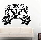 Pegatinas de pared mxlon, pegatina de gimnasio, Fitness, barra de Crossfit, calcomanía muscular,...