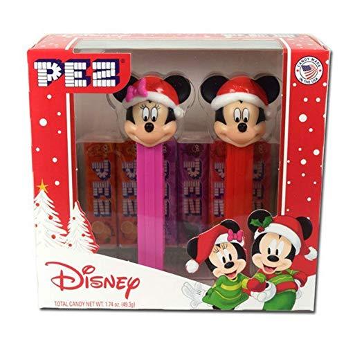 Disney Mickey y Minnie Mouse Christmas PEZ Dispensador
