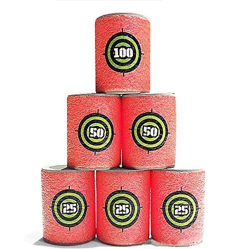 Mmrm EVA Souple Cibles de Balles - Rouge - 6 Pièces pour Dynamiteurs
