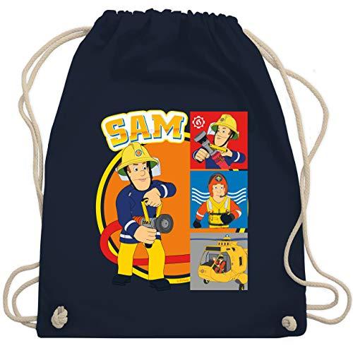 Shirtracer Feuerwehrmann Sam Tasche - Sam - Unisize - Navy Blau - Geschenk - WM110 - Turnbeutel und Stoffbeutel aus Baumwolle