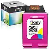 CKMY Remanufactured 303 XL Tintenpatrone als Ersatz für HP 303XL (1 Farbe) für Envy Photo 7134 7830 6232 6230 7130 6220 6234 7100 7155 7800 7834 7855 7864 6222 6252 Tango X