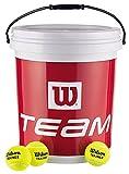 Balles de Tennis Wilson, Team Trainer, Seau de 72 Balles, Jaune, WRT131200