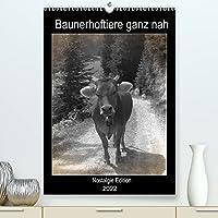 Bauernhoftiere ganz nah - Nostalgie Edition (Premium, hochwertiger DIN A2 Wandkalender 2022, Kunstdruck in Hochglanz): Saeugetiere und Voegel auf dem Land in schwarz und weiss (Planer, 14 Seiten )