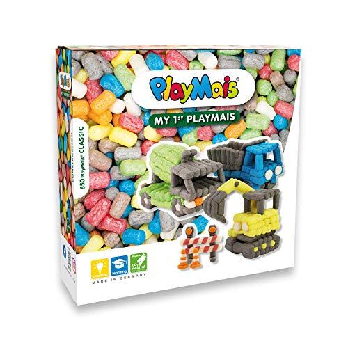 PlayMais Basic Mi Primer Juego de Construcción I Jueguete para niñas y niños a Partir de 3 años I Juego de Manualidades con 650 Piezas, Accesorios e Instrucciones I Creatividad y motricidad Fina