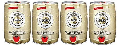 Warsteiner Premium Pilsener Fass, 4er Pack, (4 x 5 Liter)