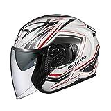 オージーケーカブト(OGK KABUTO) バイクヘルメット ジェット EXCEED CLAW(クロー) パールホワイト (サイズ:L) 581541