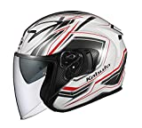 オージーケーカブト(OGK KABUTO) バイクヘルメット ジェット EXCEED CLAW(クロー) パールホワイト (サイズ:XL) 581558