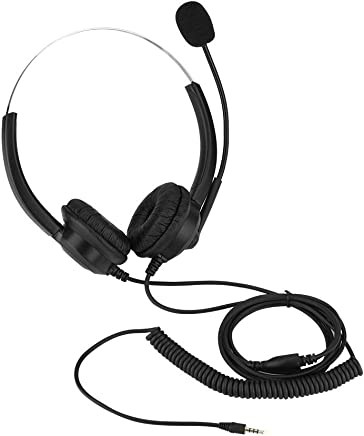Cuffie telefoniche da 2,5 mm, cuffie senza suono Cuffie con microfono da 360 ° Cuffie auricolari rotanti per cuffie Call Center nere (Color : 3.5mm plug) - Trova i prezzi più bassi