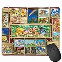 アート集 プーさん マウスパッド 多用途の 耐久性が良い ゲーム オフィス用滑り止めラバー厚手マット 25x30x0.3cm