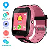 Montre Téléphone Intelligent pour Enfants avec Écran Tactile pour Garçons et Filles de 3 à 12 Ans SOS Jeu de...