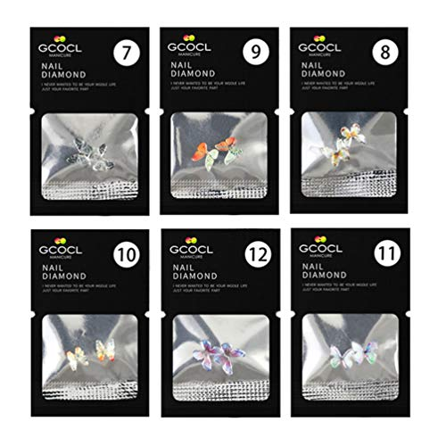 Pixnor Papillon Nail Autocollant 3D Nail Art Décalcomanie Fée Ongle Pointe Décor pour La Maison Boutique Bricolage Nail Art Manucure Salon Fournitures Vert 12 Pcs (Motif 2)