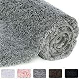 Lifewit Bathroom Rug Bath Mat 32'x20' Non-Slip Soft Shower Rug Plush Microfiber Water Absorbent Thick Shaggy...