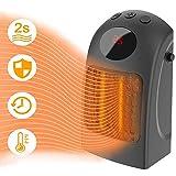 Bcamelys Mini Chauffage Électrique,Radiateur 3 Réglages de Température Radiateur Céramique Chauffage électrique...