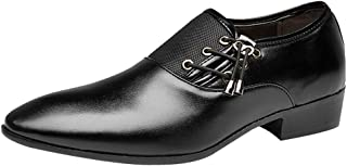 Theshy Men's Modern Classic Lace Up Leather Lined Perforated Oxfords Shoes