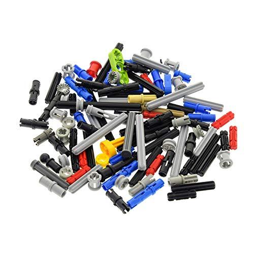 LEGO 100 Piezas TECHNIC - Conectores, Varillas, pasadores, Ejes, Pins - Piezas al Azar