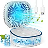 Portable Air Conditioner, SUQQUER Evaporative Air Conditioner Fan with 3 Speeds 7 Colors, 4 in 1 USB Charging Personal Air Cooler Desk Fan for Travel, Room, Office and Home