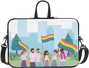 Laptop Bag Happy Gay Meeting People Group Shoulder Bag Crossbody Bag Double Zipper for Men Women College Students Unisex-Adult Business Travelling Work College