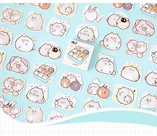 KATTERS Hamster Friends Kawaii Stickers Scrapbooking Diy Diary Album Stick Label Hand Book Decorative 45Pcs