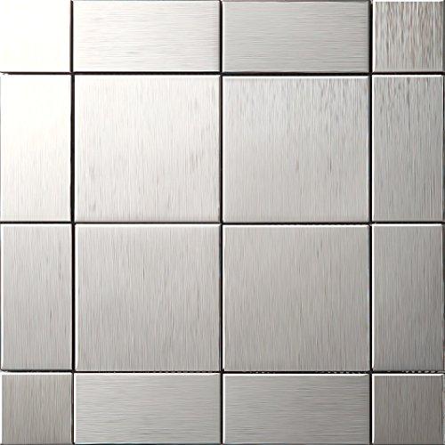 Art Deco metallo mosaico acciaio inossidabile Mosaico muro300*300mm--Cucina Backsplash/Parete da bagno/decorazione domestica(SA498)