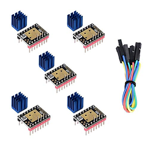 Kingprint TMC2208 V3.0 Stepper Damper with Heat Sink Driver, Replacement Damper for A4988 DRV8825 for 3D Printer (5 pieces)