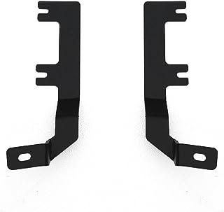 ZROADZ Ditch Hood Hinge LED Mounting Bracket - Compatible w/ 2015-2017 Ford F150 - to Mount (2) 3 Inch LED Pod Lights - Mild Steel Gloss Black - Bolt-On Easy Installation - PN #Z365731