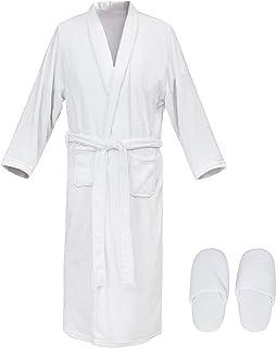 Bathrobe Gift Set for Women,Women's Robe,Spa Luxetique Bath Gift Set,7 Pcs Lily Scent Home Bath Set, Spa Bathrobe and Slip...