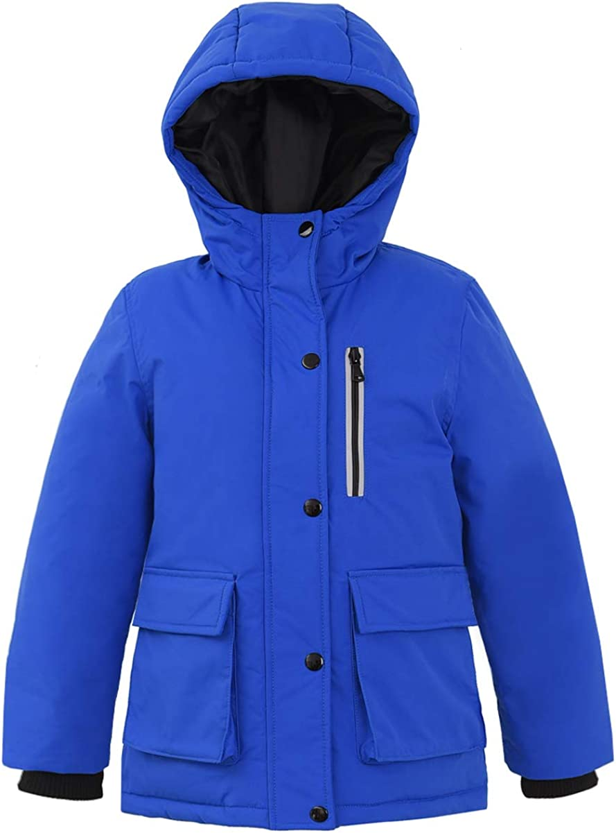 Hiheart Boys Insulated Parka Thicken Padded Winter Coat with Hood