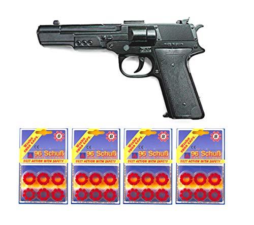 Outletdelocio.. Pistola Metalica Juguete Agente Especial con 384 fulminantes en Aros de 8 tiros. 334/4-62517