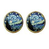 Pendientes de cristal con diseño vintage de Van Gogh de Handicraft