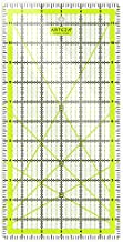ARTEZA Quilting Ruler, Laser Cut Acrylic Quilters' Ruler with Patented Double Colored Grid Lines for Easy Precision Cutting, 6