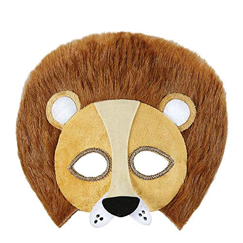 Widmann Demi Masque Peluche Lion Adulte