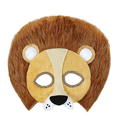 WIDMANN Demi máscara peluche león adulto