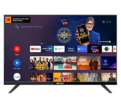 Kodak 80 cm (32 inches) HD Ready Certified Android Smart LED TV 32HDX7XPROBL (Black) (2021 Model)