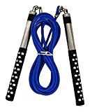 Freestyle Jump Rope by DYNAPRO great for Double Unders, HIIT, Speed, and Tricks (Long Aluminum...
