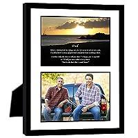 息子や娘からのお父さんギフト 誕生日やクリスマス - 8 x 10インチのフレームとマット付き 4x6インチの写真を追加