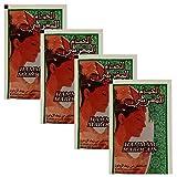 4er pack Marokkanische schwarze Seife Parfümfrei aus reinem Olivenöl 100 Gramm (4 x 25 g) | Hamam...