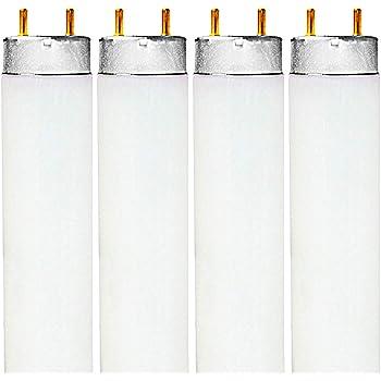 Luxrite F32T8/741 32W 48 Inch T8 Fluorescent Tube Light Bulb, 4100K Cool White, 2850 Lumens, G13 Medium Bi-Pin Base, LR20732, 4-Pack