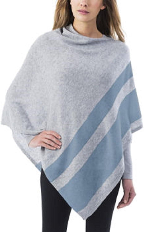 Celeste Ladies' colorblock Cashmere Blend Travel Wrap Poncho