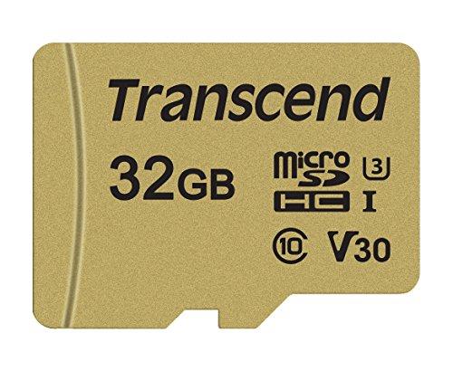Transcend TS32GUSD500S microSDHC 500S Scheda di Memoria, 32 GB