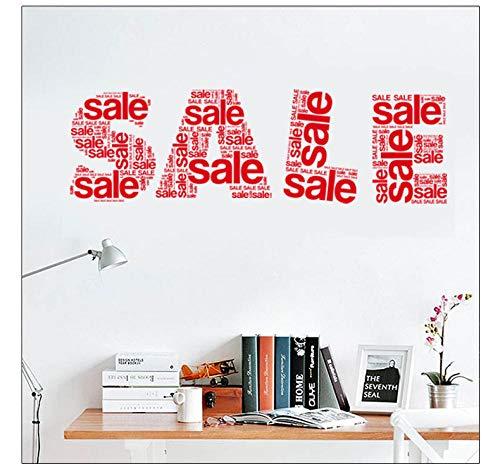 LSDAEER Slaapkamer Muurstickers Zelfklevende Vinyl Clearance Korting Logo Muursticker Winkel Raamdecoratie Stickers Verwijderbare Waterdichte Stickers