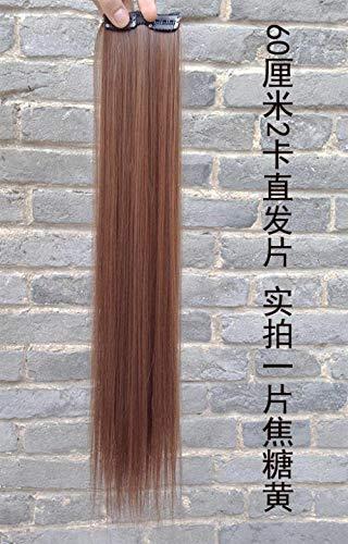 GWSJF Extension de cheveux raides - pad 60cm -1 haute qualité Perruque Cosplay Pour femmes Chaleur résistant Mode Glamour perruque avec Free Bonnet