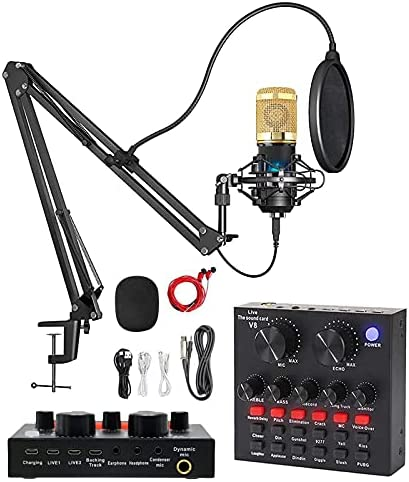Top 10 Best 3.5mm studio speech stereo microphone mic w/ stand mount holder for pc laptop Reviews