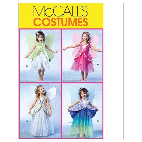 McCall's Patronen M4887 Grootte CDD 2-3-4-5 Kinderen/Meisjes Fee Kostuums, Pack van 1, Wit