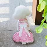 WALNUTA Spring and Summer Cute Pet Dress Teddy Princess Dog Dresses Lovely Dresses For Dogs Suitable Pet Clothes Chihuahua (Color : Pink, Size : XS)