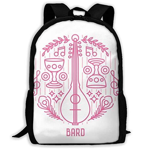 Bard Mochila Estudiantes,Laptop Bag,Bolso De Hombro Al Aire Libre,Bolsa para La Escuela,Bolsa De Viaje,Mochila De Viaje