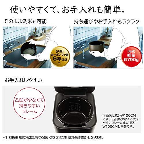 日立 炊飯器 5.5合 圧力&スチームIH ふっくら御膳 日本製 大火力 沸騰鉄釜 蒸気カット RZ-V100CM R メタリックレッド